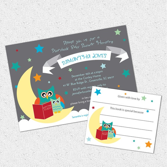 Baby Shower Invitation And Bookplate Set Printable Story