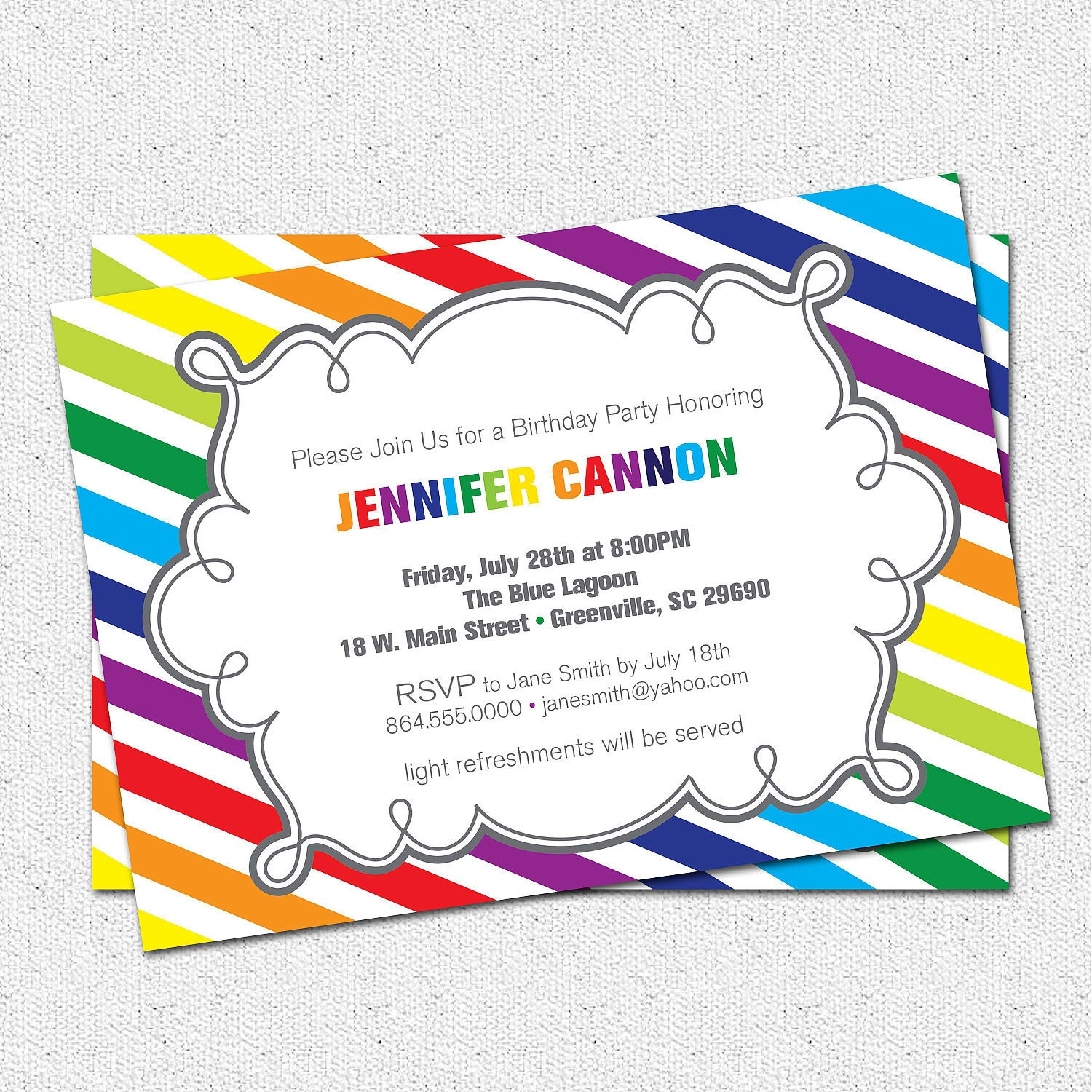 Candid image throughout printable party invites