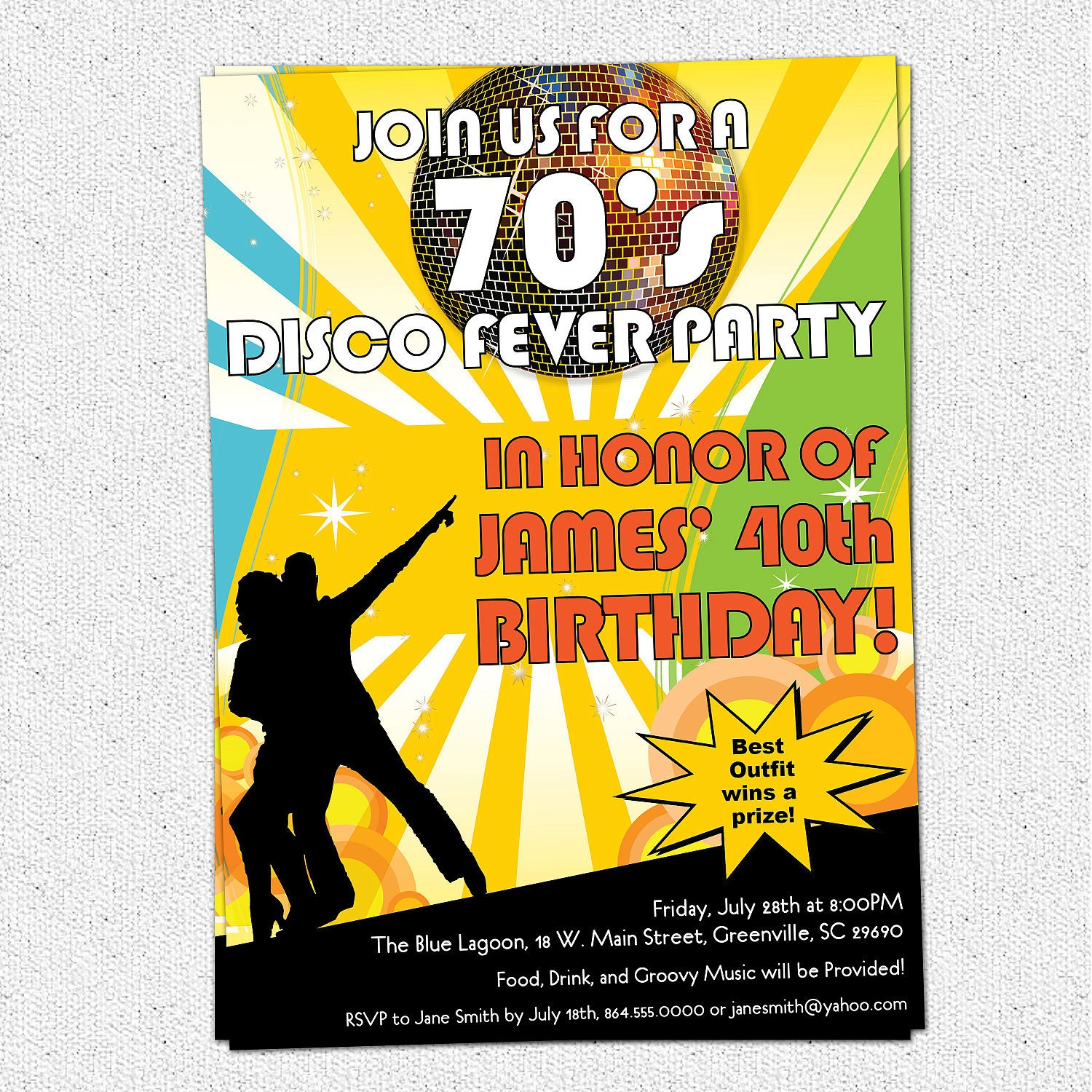 Printable Disco Ball 70's Seventies Themed Party