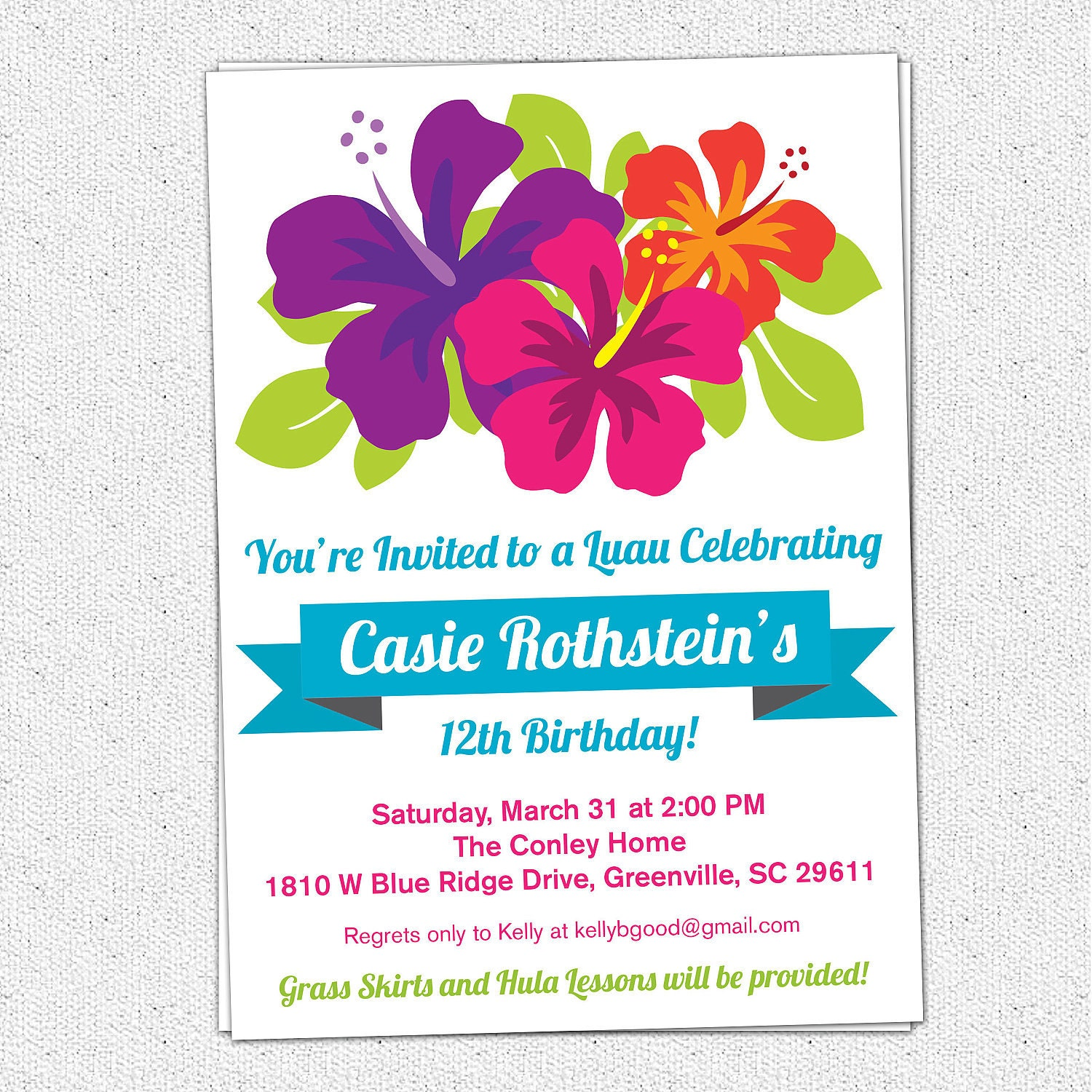 Luau Birthday Party Invitations and get inspiration to create nice invitation ideas