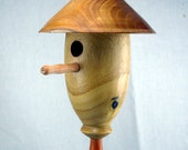 Ornamental Birdhouse from Mulberry and Buckthorn