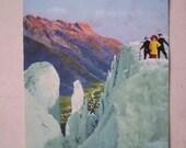 Chamonix - Sur les Seracs du Glacier des Bossons - 1925 - Antique French Postcard
