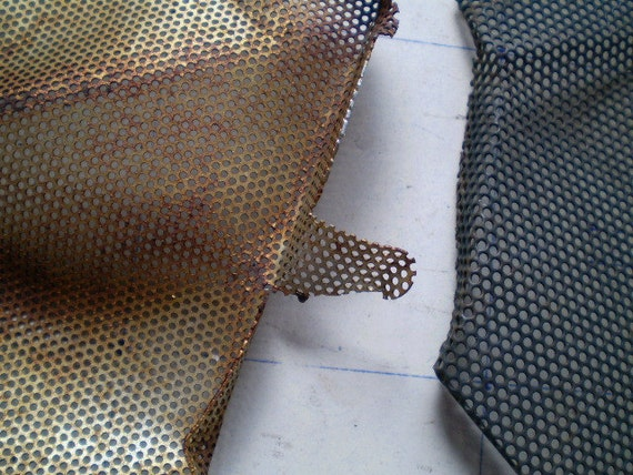 Lovely Rusty Metal Mesh Pieces - Found Objects for Assemblage, Sculpture or Altered Art
