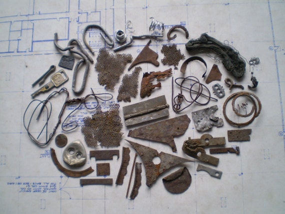 Lovely Rusty Metal Pieces - Found Objects for Assemblage, Jewelry or Altered Art - Industrial Salvage