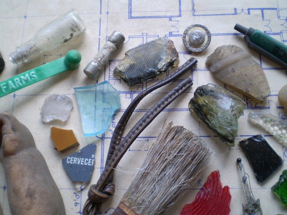 Found Objects for Altered Art, Assemblage or Mixed Media - Salvaged Supplies - Metal Wood Bone Ceramic Stone Plastic Glass