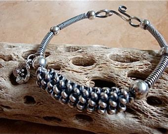Sterling Silver Twisted Wire Bracelet