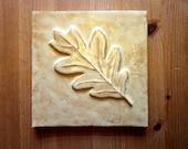 Goldenrod Oak Leaf Tile