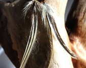 Natural Badger Feather Earrings