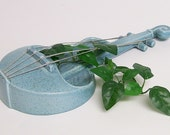 Wall Pocket / Hanging Vase / Planter / Red Wing Mandolin Blue Turquoise