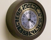 Vintage Zodiac Electric Wall clock by Spartus