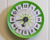 Vintage Electric Wall Clock Apple Green