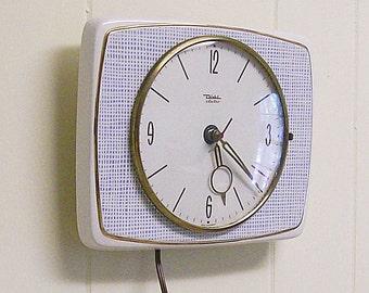 Wall Clock Vintage Diehl Electric Porcelain