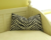 "Zebra Print 14""x24"" Lumbar Pillow Cover"