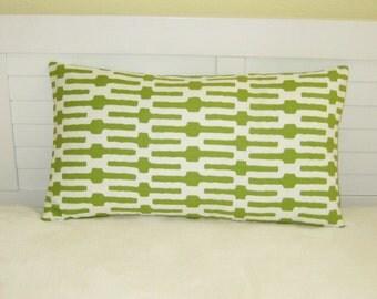 "Annie Selke Links in Citrus 14""x24"" Lumbar Pillow Cover"
