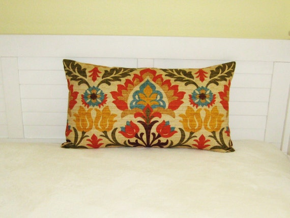 Waverly Santa Maria in Adobe  Lumbar Pillow Cover