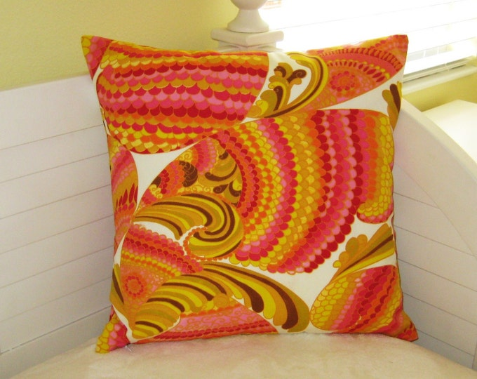 Schumacher Trina Turk Pisces in Punch Indoor Outdoor Pillow Cover