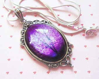 Violet Daze -- Wearable Art Cameo Necklace