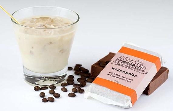 White Russian soap - vanilla coffee and cream Big Lebowski bar