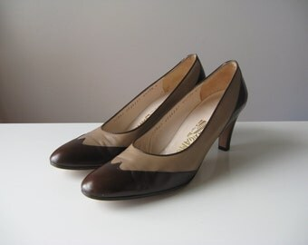 vintage wingtip heels / Salvatore Ferragamo heels