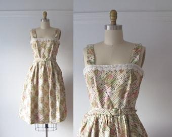 vintage 1950s sun dress / 50s summer dress
