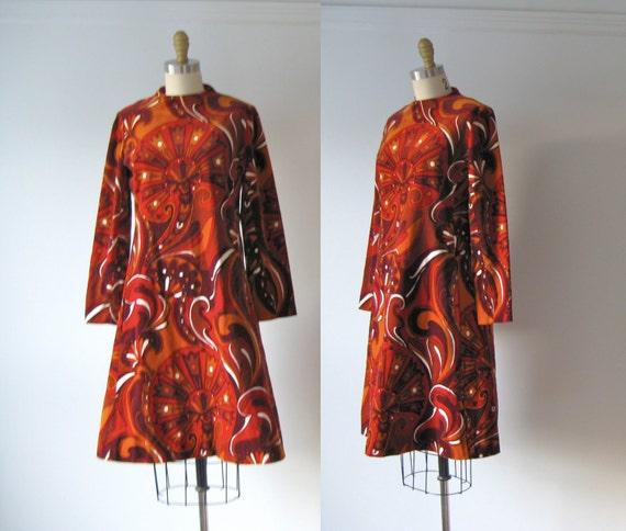 1960s dress / 60s dress / Velvet a-Go-Go