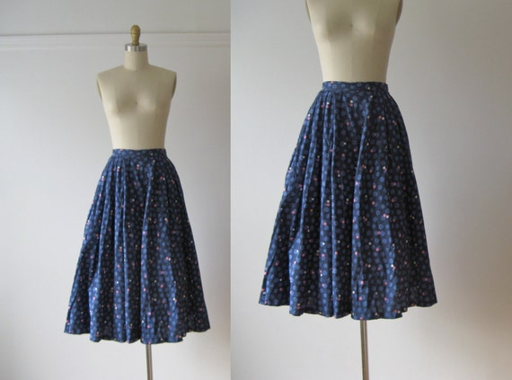 vintage 1950s full skirt // Atomic Blueberry