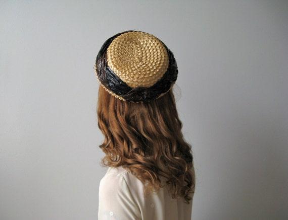 vintage straw hat / 60s straw hat