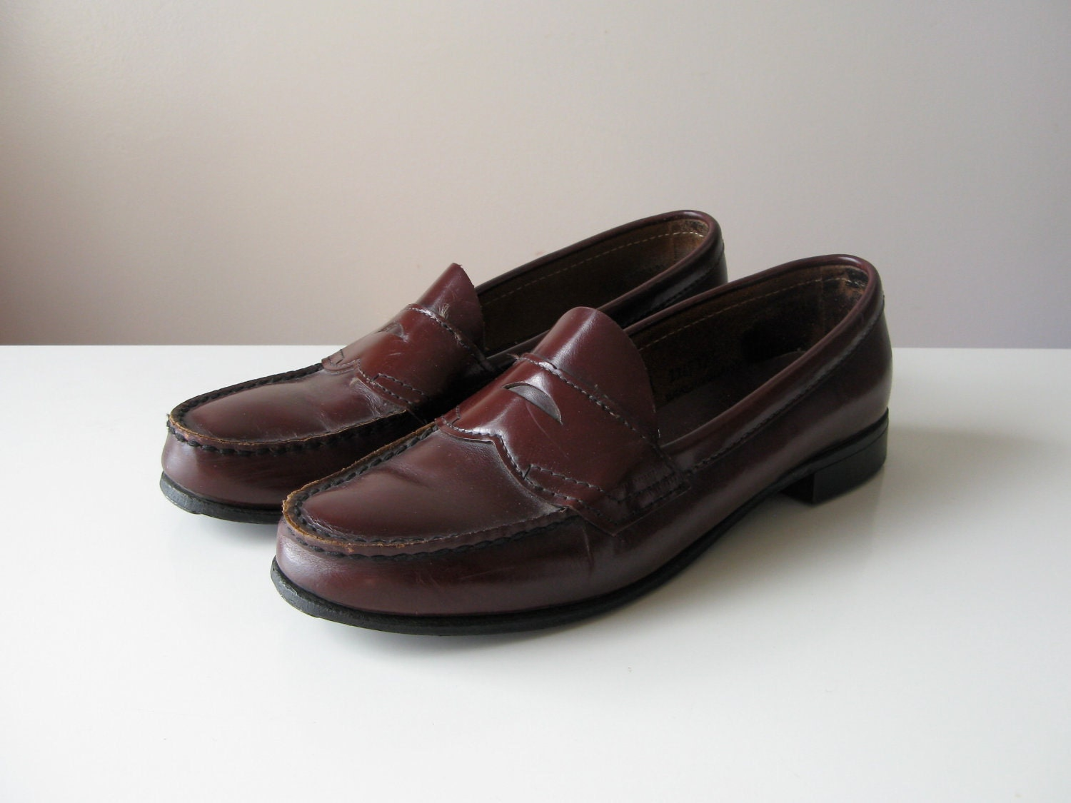 Vintage Bass Penny Loafers By Dronning On Etsy