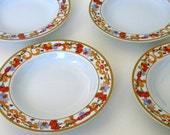 Bernardaud Limoges ROMA GOLD China - Rim Soup Bowl - Made In France 4pcs