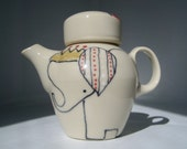 Elephant and Crown Soy Pot