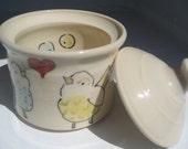 Ceramic Jar- Love Birds- Sugar Pot- Treasure Box- Spice Jar