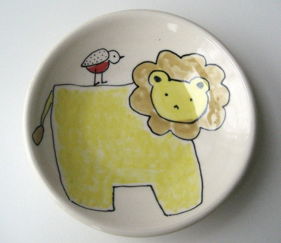 Lion and Bird Lunch Plate