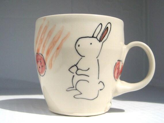 Handmade Coffee Mug- Bunny Rabbit Mug
