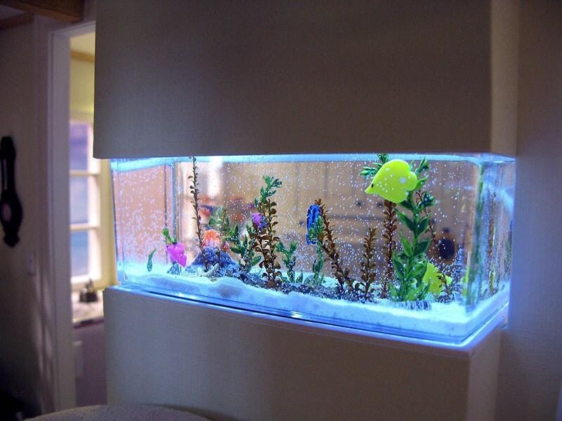 Saltwater Aquarium in 1:12 scale custom order by otterine on Etsy