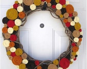 Happy harvest rosette wreath