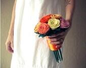 10 felt rose bridal bouquet- pick your colors