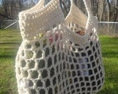 Rectangular Cream market bag