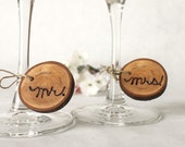 mr. and mrs. Cherry Tree Wine Glass Charms made to order