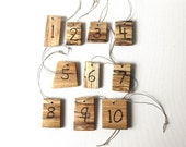 Reserved for Stephanie - Birch Wood Table Numbers 1-10 Woodland Wedding Reception