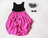 SALE .......... Vintage ROSE Print Pleated Maxi Skirt