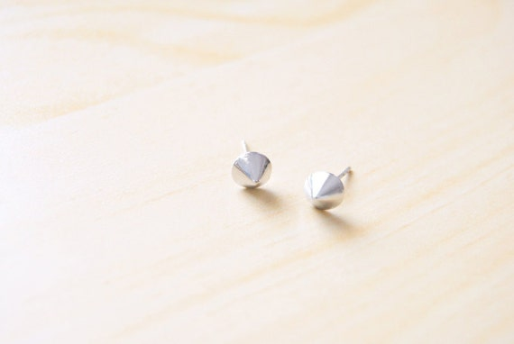 Last Pair - Mini Silver Cone Stud Earrings
