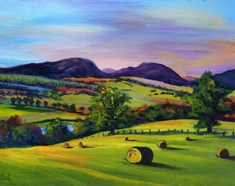 Highland Autumn, A4 Fine Art Scottish Landscape Painting Print