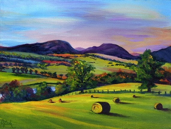 Highland Autumn, A4 Fine Art Scottish Landscape Painting Print