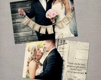 "Custom photo thanks / Wedding thank yous / Wedding Thank You Cards / Thank you Cards / Vintage cards / Thank you card - the ""Allie"""