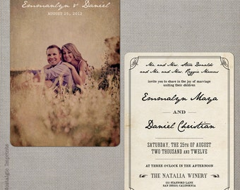 """Wedding Invitation / Wedding Invitations / Wedding Invites / Vintage Invitation / Vintage Wedding Invitation - the """"Emmalyn 3"""""""