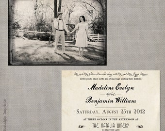 """Wedding Invitation / Wedding Invitations / Wedding Invites / Vintage Invitation / Vintage Wedding Invitation - the """"Madeline 2"""""""