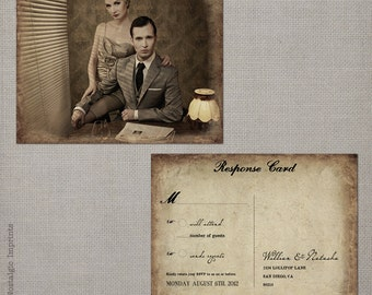 "Rsvp postcard / Rsvp postcards / Rustic wedding rsvp / Wedding rsvp card / Rsvp / Response card / Reply cards / Rsvp card - the ""Natasha 1"""