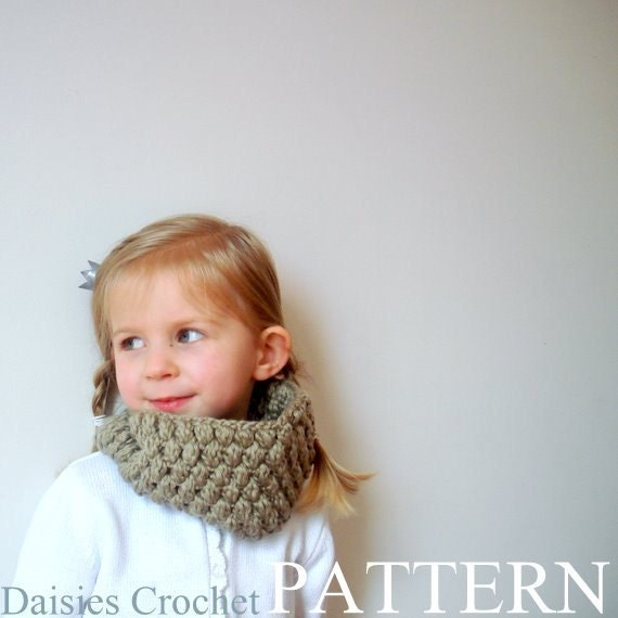 Crochet pattern pdf Girl Adult Cowl Neck by AACottonCreations