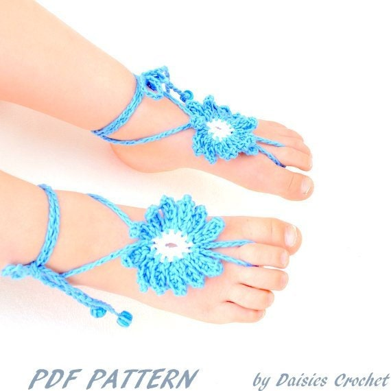 pdf  headband hat flower beach barefoot sandals accessory foot jewelry girl lace shoes (025)Permission To Sell Finished Items