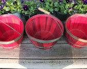 Vintage Red and Green ORCHARD BASKETS
